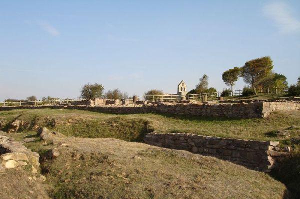 restos de la casa de los mosaicos de julióbriga