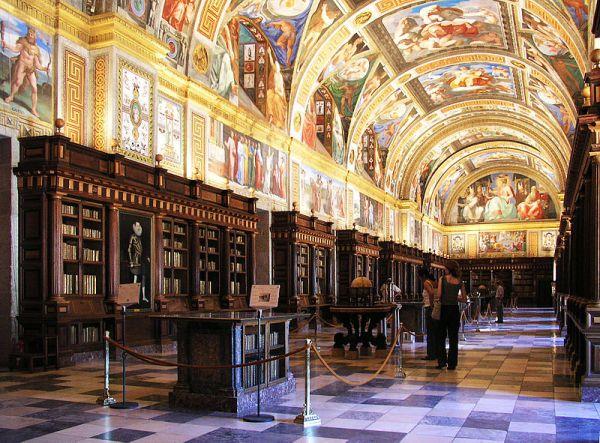 sala principal de la biblioteca del Escorial