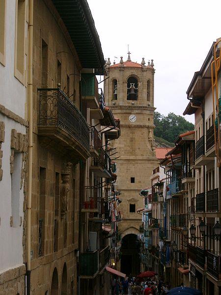 La iglesia religiosa de San Salvador en Guetaria