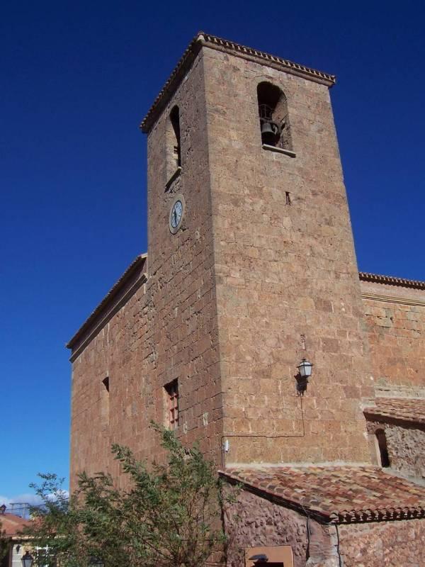 Vista frontal iglesia de la asunción de Clavijo