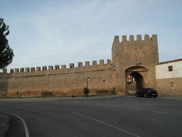 Restos de la muralla de la localidad burgalesa de Sasamón