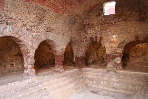 Aspecto que ofrecen las termas romanas de Caldas de Montbui