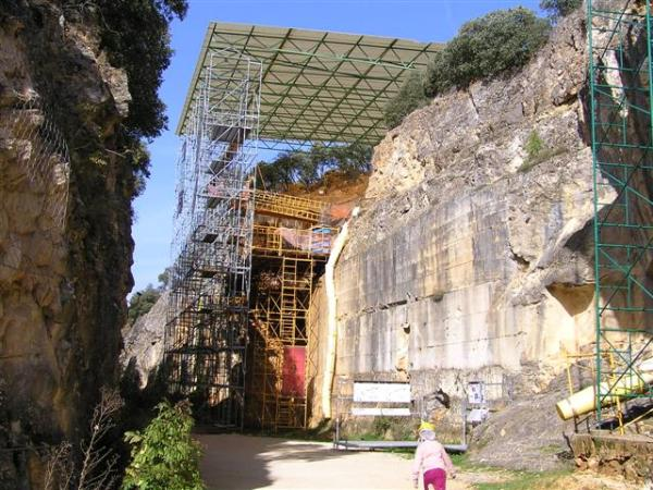 entrada al conjunto arqueológico de atapuerca
