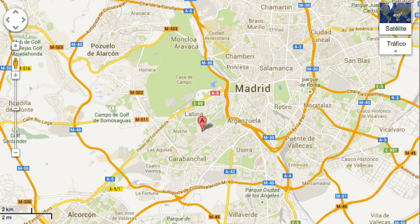 Mapa Carpetana Madrid