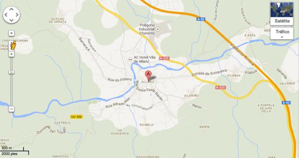 Mapa de Allariz