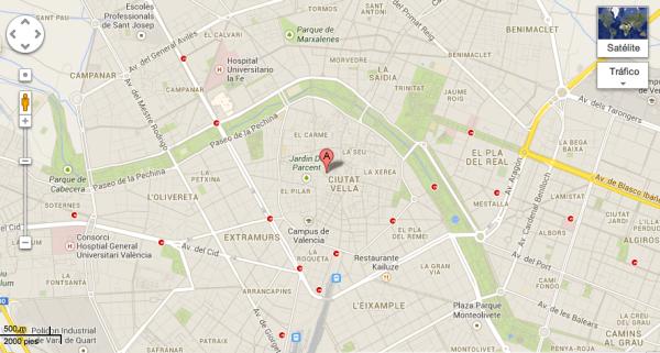 Mapa Lonja Valencia