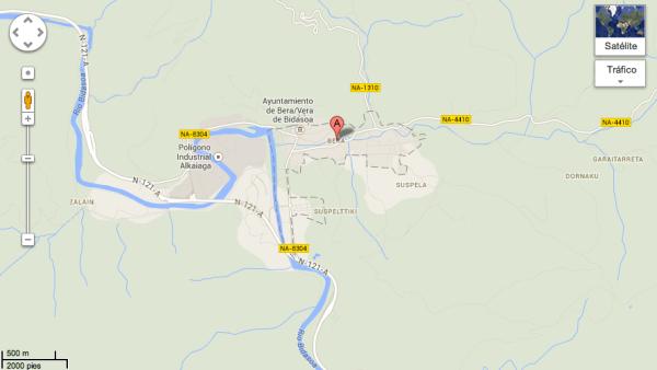 Mapa Vera de Bidasoa