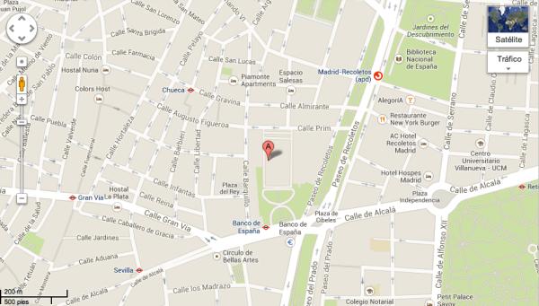 Plano Palacio Buenavista