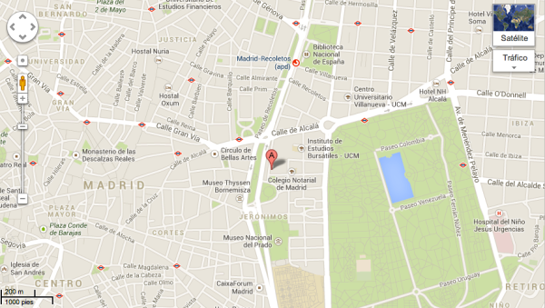 Mapa Museo Naval Madrid