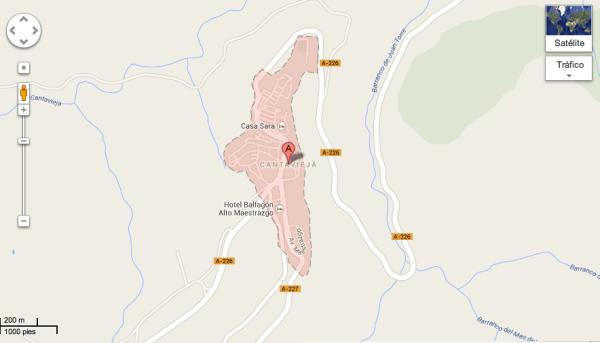 Mapa Cantavieja