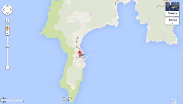 Mapa Finisterre