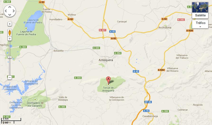 Mapa Torcal de Antequera